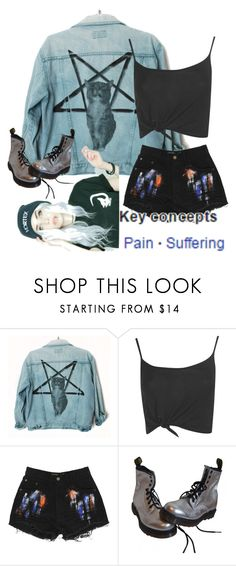 """//keyconcepts//"" by macxieloves ❤ liked on Polyvore featuring beauty, Burger and Friends, Boohoo and Dr. Martens"