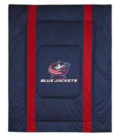 ATHLEZ - Columbus Blue Jackets Sidelines Comforter Full/Queen