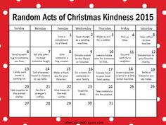 25 random acts of christmas kindness random free printable and 24 random acts of christmas kindness for kids the popular free printable random acts of christmas kindness advent calendar is the best way to countdown to pronofoot35fo Image collections