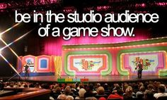 be in the studio audience #bucketlist