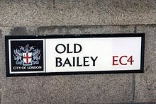 Old Bailey - Street name sign