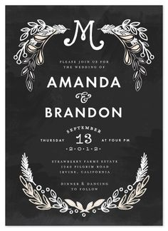 wedding invitations - Chalkboard by Alethea and Ruth