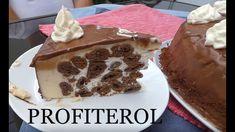 Tort profiterol .Reteta2 Romanian Desserts, Tiramisu, Pudding, Sweets, Ethnic Recipes, Videos, Food, Youtube, Good Stocking Stuffers