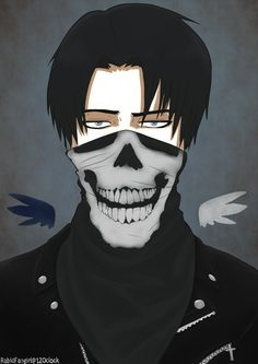 Character: Levi Ackerman Anime: Attack on titan His face looks so long (no hate) But props to the artist! Its amazing!