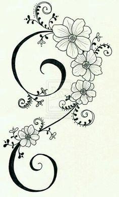 772 meilleures images du tableau dessin de fleurs - Fleurs a dessiner modele ...