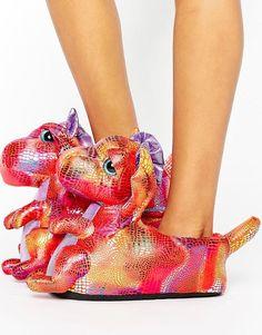 8f363452f499e9 Dragon slippers Pink Dragon