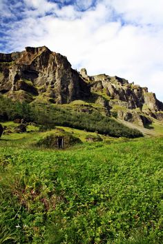 South Iceland turf house