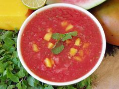 Watermelon Soup in Living on Live Food