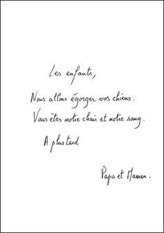 Eric Pougeau, Les enfants  (série de 33 lettres encadrées), 2004.