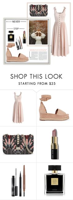 """""""Never stop"""" by spencer-hastings-5 ❤ liked on Polyvore featuring Chicwish, Chloé, Valentino, Bobbi Brown Cosmetics, MAC Cosmetics and Avon"""