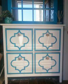 O'verlays Jasmine painted on the IKEA Hemnes Shoe Cabinet