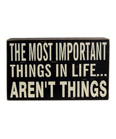 Take a look at this 'Most Important Things' Sign by VIP International on #zulily today!