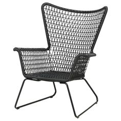 HÖGSTEN Armchair - black - IKEA, 2nd option outdoor chair x 1 with footrest & green coffee table, $149