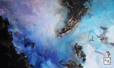Nicole Cijs - Through The Heavens - 60x100cm. Invited for an expo at ESTEC (European Space Research and Technology Centre), I found a list of words used in this field. One of them 'Accretion'. Described as the process by where dust and gas accumulated into larger bodies such as stars and planets. Inspired by this concept and the colourful photos I found, I've created three works with an artistic translation. Mixed media acrylic painting on stretched canvas.