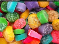 candies   Royalty Free Image of Rolling Color Candies
