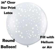 SIX Stars Around balloon, Big Clear balloons, Wedding Party Decorations by…