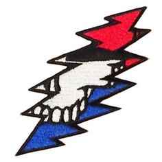 Grateful Dead - Steal Your Bolt Patch- Grateful Dead - Steal Your Bolt Patch A 13 point lightning bolt with a hint of a stealie on this Grateful Dead embroidered patch. The approximate size is 1 x Embroidered patches can be ironed on or sewn Grateful Dead Merchandise, Grateful Dead Shirts, Greatful Dead Tattoo, Grateful Dead Image, Dead And Company, Skull Tattoos, Tatoos, Cool Tats, Forever Grateful