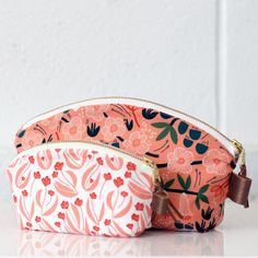 Petal Pouch by Noodlehead Quilter's Cotton from Stockbridge by Feena Brooks for Fabrics Pouch, Wallet, Cloud 9, Surface Pattern Design, Dressmaking, Printed Cotton, Organic Cotton, Coin Purse, Cotton Fabric