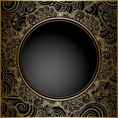 Black with golden vintage background art vector 02