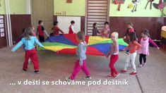 Dešťové kapičky - cvičíme s padákem