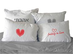 Falling in love design pillowcases 100% Cotton 70/50 by meshup