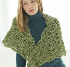 Tranquility Wrap by Lion Brand Crochet Shawl Kit - None