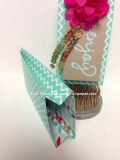 Whoa!  Check out this cute little gussetted treat holder made from 1 sheet of our DSP paper stacks!   Simple, quick and sooo easy.  Check out the details on my blog;  http://stampinbj.typepad.com/weblog/2014/05/enjoy.html