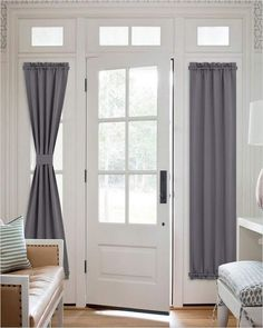 WINDOW Treatments For French Doors Our last suggestion for French door window coverings are Roller a French Door Window Coverings, French Door Windows, Door Window Treatments, French Doors, Window Shutters, Blinds For Windows, Windows And Doors, Galley Kitchen Remodel, Faux Wood Blinds
