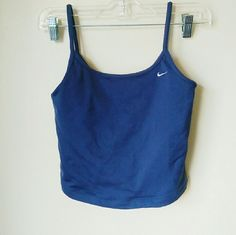 Nike Fit navy crop camisole sports top Built in mesh support for maximum absorbtion Nike Tops Crop Tops