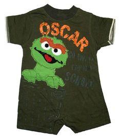 Sesame Street Jim Henson Oscar The Grouch Baby Creeper Romper Bodysuit Select Shirt Size: 18-24 months Sesame Street,http://www.amazon.com/dp/B005PPOA38/ref=cm_sw_r_pi_dp_6YsNrbF5D4BD478F