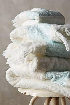 Handtuch mit Leinenkante