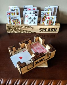 Love this from CustomMade Gifts For Father, Mother Gifts, Mothers, Playing Card Holder, Wood Napkin Holder, Custom Playing Cards, Wood Anniversary Gift, Trendy Tree, Gifts