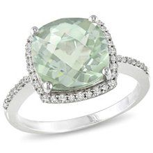 I have this beautiful ring. Green amethyst is a favorite gem of mine. Love it.