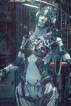 Female Cyborg, Cyborg Girl, Human Cyborg, Gothic Fantasy Art, Arte Robot, Broken Doll, Japanese Photography, Robot Girl, Cg Artist