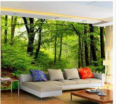 Pas cher Photo personnalisée fond d'écran 3D grand canapé TV fond mur papier peint peinture murale Nature forêt 3D murale papier peint 201515367, Acheter Papiers peints de qualité directement des fournisseurs de Chine: Papier peint est personnalisé Être sûr de lai
