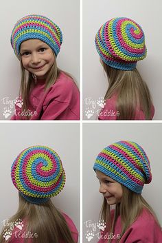 Helix Hat by Danyel Pink (CrazySocks Crochet) -- LOVE this hat! Must keep a good count or you'll mess up (or at least I did) but so easy to follow.