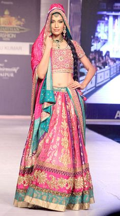 Ritu Kumar Rajasthan Fashion Week 2013    Find Similar Exclusive Laces and fabrics @ www.lacxo.com