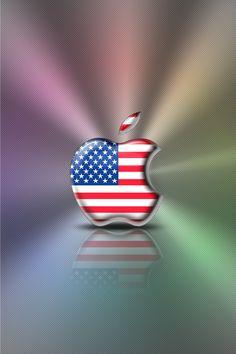 iPhone Wallpaper - Flag Series -U.S.A. by LaggyDogg
