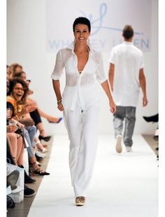 1df7cd0425 TURKS   CAICOS blouse and PORTOFINO pants from luxury fashion and lifestyle  brand Whitney Linen