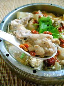 Peng's Kitchen: Steamed Herbal Chicken Drumlets