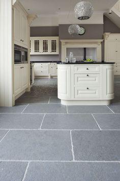 Taj Grey Brushed Limestone | Limestone Floor Tiles | Mandarin Stone