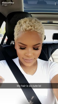 hair beauty - Best Natural Hair Styles Natural African Women New Hairstyles For Natural Black Hair 20190124 Blonde Natural Hair, Natural Hair Short Cuts, Short Natural Haircuts, Tapered Natural Hair, Short Sassy Hair, Short Hair Cuts, Natural Hair Styles, Short Blonde Pixie, Natural Hair Twa