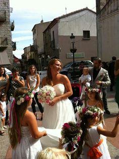 Couronne de fleurs mariage corse porto-vecchio