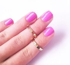 Adorable Gold Midi Rings would make a perfect childs ring because of its small size