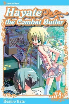 Hayate 34 • Hayate the Combat Butler by Kenjiro Hata (Hayate no Gotoku) Manga Covers Viz English Version Manga Covers, Butler, English, Anime, Cartoon Movies, English Language, Anime Music, Anime Shows