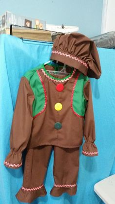 Gingerbread toddler costume (in cotton)