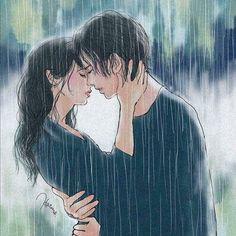 Anime Couples Just Art - Cute Couple Drawings, Cute Couple Art, Anime Love Couple, Cute Drawings, Paar Illustration, Couple Illustration, Anime Couples Manga, Cute Anime Couples, Relationship Comics