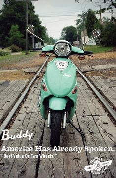 Genuine Buddy Scooter in Sea Foam...I have this scooter and it's awesome!