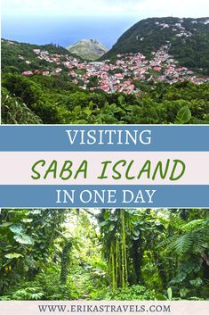 Traveling to Saba? The island of Saba is one of the prettiest in the Caribbean. Discover the beauty of the Caribbean's Unspoiled Queen with this Saba day trip itinerary. Travel Guides, Travel Tips, Green Scenery, Caribbean Netherlands, Life Is An Adventure, Beautiful Islands, Day Trip, North America, Traveling