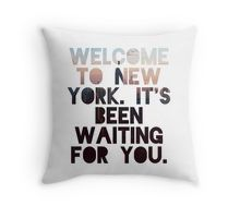 Welcome To New York- Taylor Swift Throw Pillow